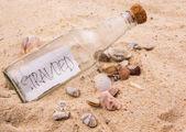 Flaskpost — Stockfoto
