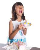Young Girl Celebrating Birthday — Stock Photo