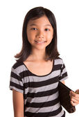 Young Girl With Brown Purse — Stock Photo
