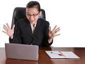 Asian Businesswoman At Her Office Desk — Stock Photo