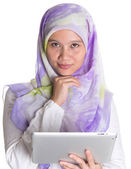 Muslim Female Proffesional With Computer Tablet — Stock Photo