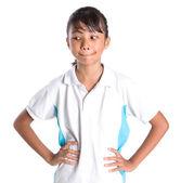 Scuola ragazza in uniforme scolastica — Foto Stock