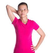 Female Asian Exercising — Stockfoto