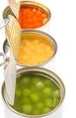 Fagioli, piselli e mais dolce — Foto Stock