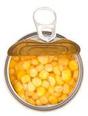 Sweet Corn In Tin Can — Foto Stock