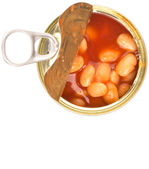 Bake Beans In TIn Can — Stok fotoğraf
