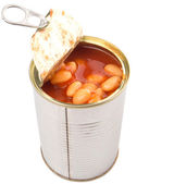 Bake Beans In TIn Can — Foto Stock