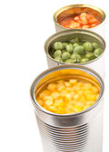 Baked Beans, Green Peas And Sweet Corn — Stock Photo