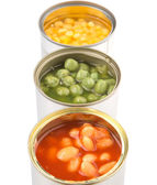 Baked Beans, Green Peas And Sweet Corn — Foto Stock