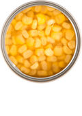 Sweet Corn In Tin Can — Stock Photo