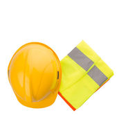Hard Hat And Reflective Vest — Stock Photo