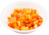 Chopped Orange Capsicums — Stock Photo