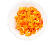Chopped Orange Capsicums — ストック写真