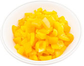 Chopped Yellow Capsicums — Stock Photo