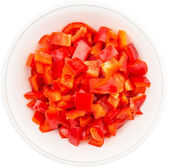 Chopped Red Capsicums — Stock Photo