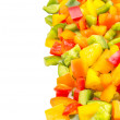 Colorful Mix Chopped Capsicums — Stockfoto