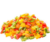 Colorful Mix Chopped Capsicums — Stock Photo