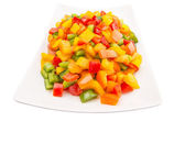 Mix Colorful Chopped Capsicums — Stock Photo