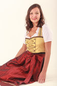 Integrated woman in Bavaria — Stock Photo