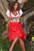 Funny Bavarian girl — Stock Photo