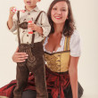 Bavarian Mother and Child — Stock Photo