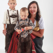 Bavarian mother in costume - Stock Photo