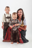 Bavarian mother in costume — Stock Photo