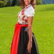 unga brasilianska som bayersk skönhet — Stockfoto
