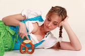 Portrait of a Bavarian woman — Stock Photo