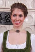 Retrato de una muchacha bávara — Foto de Stock