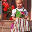 Beautiful little girl in a dirndl — Stock Photo #29731403