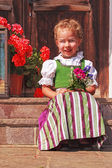 Beautiful little girl in a dirndl — Stock Photo