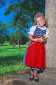 Bavarian Dirndl Preschooler — Stock Photo