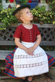Portrait of a young Bavarian girl in a dirndl — Stock Photo