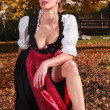 Sexy beautiful young woman in a dirndl — Stock Photo #37433357