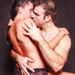 Romantic couple in a suggestive pose — Stock Photo