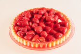 Fresh strawberry cake — Foto Stock