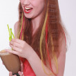 Vivacious beautiful teenager enjoying a party. — Stock Photo #49298487