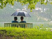 Rainy date — Stock Photo