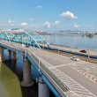 View of Dongjak bridge over Han river - Stock Photo