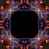 Quadro de resumo curvas coloridas sobre fundo preto — Foto Stock