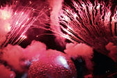 Smoky firework — Stock Photo