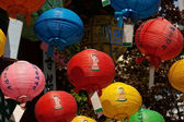 Colorful lanterns in Buddhist temple — Stock Photo