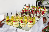 Lot of canape — Stock Photo