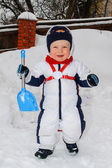 Winter portrait of young boy — Stock Photo