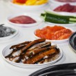 Stock Photo: Ingredients for sushi