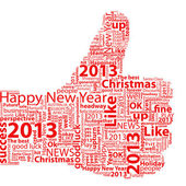 Thumb Up Symbol 2013 — Stock Photo