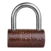 Brown cylindrical lock — Stock Photo