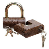 Dwa zamki i klucze — Zdjęcie stockowe