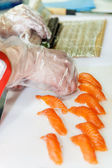 日本の寿司の調理 — ストック写真